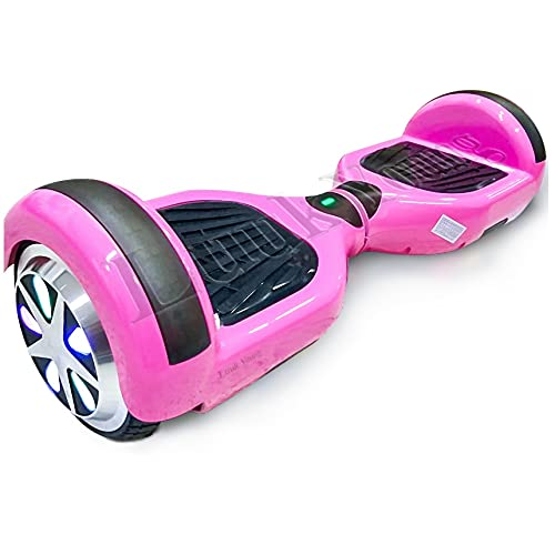6 Polegadas Hoverboard Led Skate Eletrico Scooter Rosa Bluetooth Luuk Young