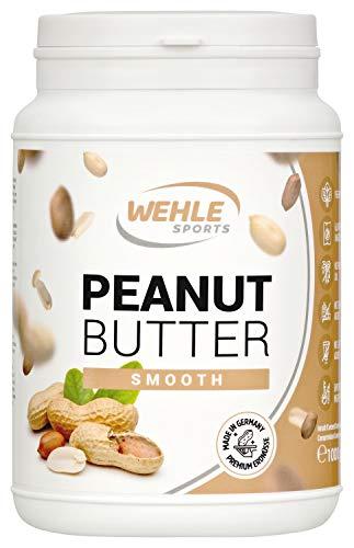 Beurre de cacahuète – beurre d'arachide sans sucre ni additifs – beurre de cacahuète naturel, sans sel, ni huile de palme ajoutés, beurre de cacahuète naturel de Wehle Sport 1000g (1kg) (crémeux)