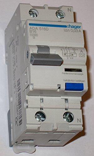 Hager ADA516D FI-LS 1P+N 10kA B-16A 30mA