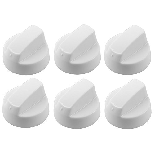 spares2go weiß Einstellknopf für Bosch Backofen & Herd (Reduzierstück oder 8+ Adapter) Pack Quantity: 6