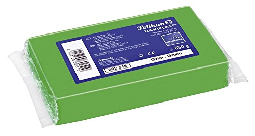 Pelikan 602516 - Knete Nakiplast Block, 650 g, grün