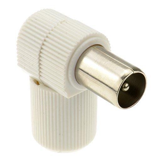 RF Coax Derecho ángulo Clavija para TV Aéreo Cables - TDT HD Compatible [Plug]