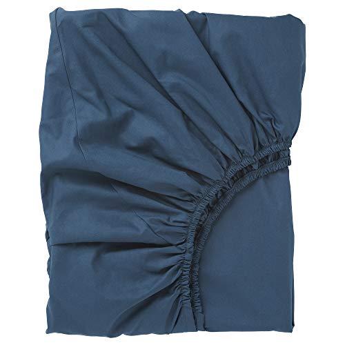 Sábana bajera ajustable ULLVIDE 140x200 cm azul oscuro