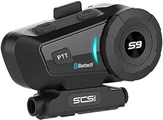 Helmet Bluetooth Headset Motorcycle Intercom- SCS ETC S-9 (2019) Helmet Intercom Motorcycle Communication System Wireless ...