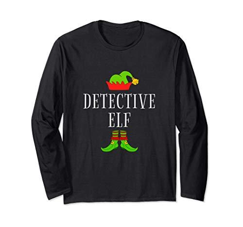 Disfraz De Elfo Detective Divertido Navidad Detective Elf Manga Larga