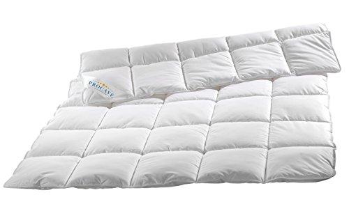 PROCAVE Micro-Comfort Ganzjahresdecke 155x220 cm | Mircofaser | Steppdecke | Bettdecke | Einziehdecke | Mono Decke | Steppbett | Soft Touch