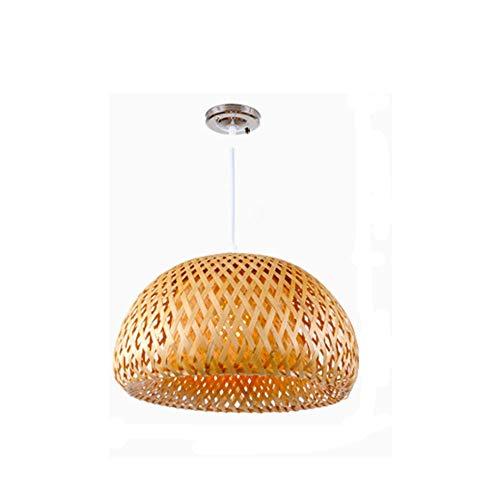 Yyqtdd Lámpara de ratán - Lámpara de araña de bambú Personalidad Restaurante Balcón Jardín Retro Lámparas de ratán (Size : 38cm)
