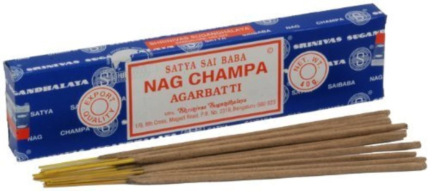 ペインティング本質的に制限Satya Nag Champa Incense Sticks 40 grams by Satya Nag Champa [並行輸入品]