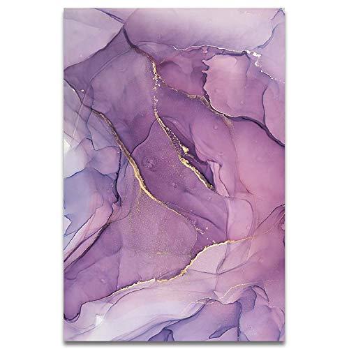 Nihaoma Moderne abstrakte schöne Bunte goldene Blütenblätter Tinte Leinwand-Malerei-Wand-Kunst-Dekoration Bild,20x25cm keinen Rahmen,AB170-6