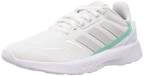 adidas Damen Nebzed Laufschuhe, Weiß FTWR White Dash Grey Bahia Mint, 39 1/3 EU