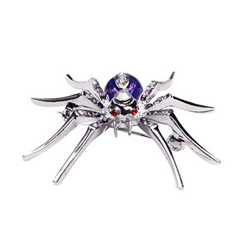 Générique Broche Pin Araignée en Strass Eblouissante - Viole