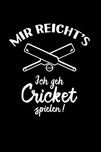 Kricket: Ich geh Cricket spielen: Notizbuch / Notizheft für Cricket Bat Kricket Set A5 (6x9in) liniert mit Linien