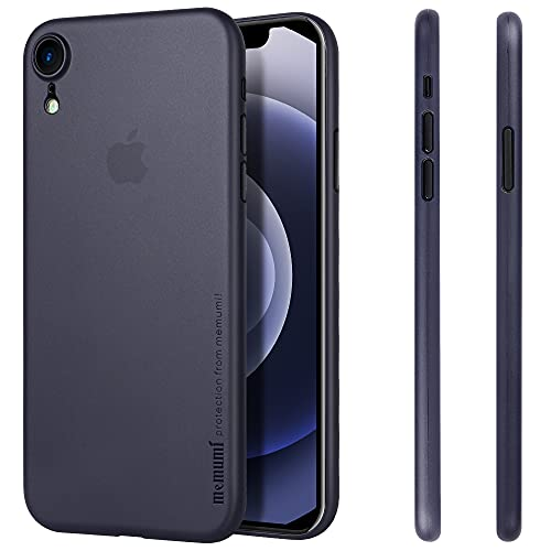 memumi for iPhone XR Case, Custodia per iPhone XR,Cover Ultra Sottile Anti-Graffio e Resistente alle Impronte Digitali Caso della Copertura Protettiva in PP Plastica Dura (Trans-Blue)