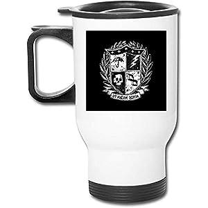 The Umbrella Academy Crest - Vaso de acero inoxidable de 16 oz, taza de café de vacío de doble pared con tapa a prueba de salpicaduras
