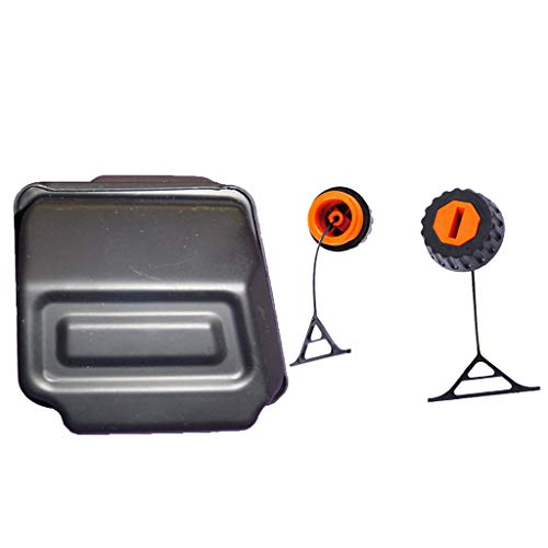 2 Stück Öl/Benzin Tankdeckel Öltankdeckel Benzintankdeckel Auspuff Schalldämpfer für Stihl 025 026 028 034 036 038 048