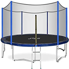 【JUPA Kids Trampoline】This round kids trampoline is a great addation for you backyard. Kids love trampolines. We all know that! And for parents, trampolines hit the mark on all points - they are safe, you will be easily able to keep your eye on your ...