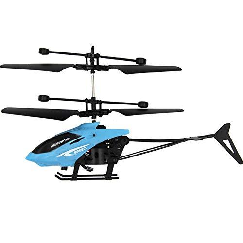 eiuEQIU Mini RC Infrarot Helicopter Induktionshubschrauber Flugzeuge Blinklicht Spielzeug, LED-Glow-in-The-Dark Effekte,Ferngesteuerter Hubschrauber für Einsteiger