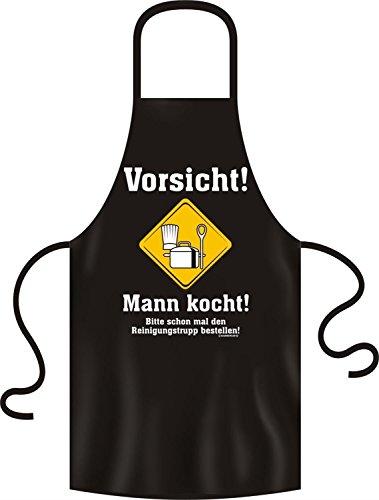 RAHMENLOS Lustige Grillschürze Kochschürze Schürze Vorsicht Mann kocht