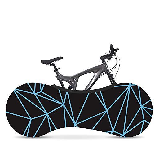 Soft BATFY Fahrrad-Abdeckung für den Innenbereich, für Mountainbikes, Staubschutz, Aufbewahrungstasche hält Böden und Wände, geeignet für Reifen von 66 - 71 cm, Linienblau