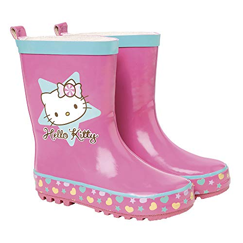 Botas de Agua para Niñas Hello Kitty - Botines Impermeables con Suela...