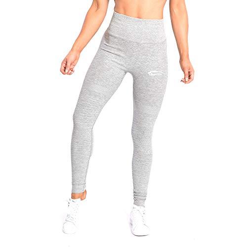 SMILODOX Damen Leggings High Waist Ivy | Seamless - Figurformende Tight für Fitness Gym Yoga Training & Freizeit | Sporthose - Workout Trainingshose, Größe:S, Farbe:Grau Melange