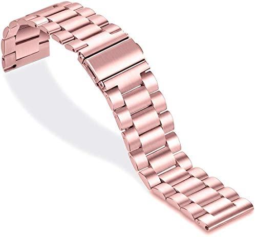 SPGUARD Armband Kompatibel mit Samsung Galaxy Watch Active 2 44mm Armband/Galaxy Watch Active 2 40mm Armband,Edelstahl Schnellverschluss Ersatzarmband-Rose Pink