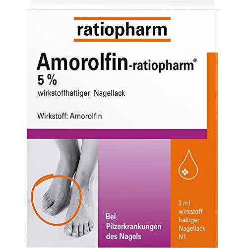 AMOROLFIN ratiopharm 5% wirkstoffhalt.Nagellack 3 ml