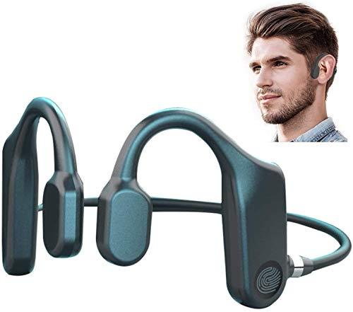 LVOD Fone de ouvido com fone de ouvido de condução óssea Touch Fone de ouvido Bluetooth Fone de ouvido sem fio TWS Sport Fone de ouvido à prova d'água