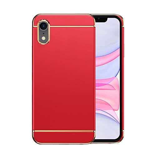 Funda iPhone XR Apple Case,Fundas iPhone XR Antigolpes Carcasa Diseño Minimalista Estuche Rígido Ultra Original Delgado de PC a Prueba (iPhone XR, Rojo)