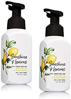 Bath and Body Works Gentle Foaming Hand Soap, Sunshine and Lemons 8.75 Ounce (2-Pack) with White Tea and Ginseng Extracts