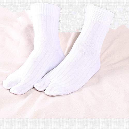 Warme Wintersocken Tabi Zehensocken M Zehensocken Socken Socken Hufeisen Warme und bequeme atmungsaktive Socken (Color : White)