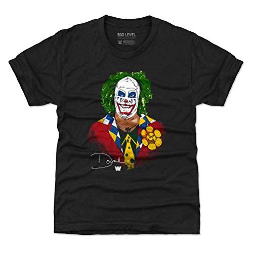 500 LEVEL Doink The Clown WWE Youth Shirt (Kids Shirt, 4-5Y X-Small, Tri Black) - Doink The Clown Profile WHT