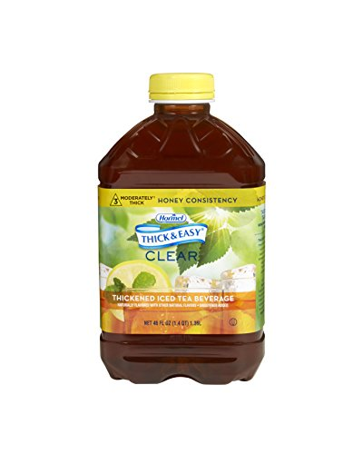 Thick & Easy Clear Thickened Iced Tea, Honey Consistency, 46 Ounce (Pack of 6)