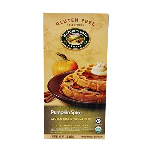 Nature's Path Pumpkin Spice Waffles, Gluten Free, 7.4 oz (Frozen)