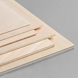 Tableros de Madera Contrachapado Chopo blanco de 5MM de Grosor. Manualidades, Decoración, Láser, CNC, Pirograbado, Pintura (2uds A0 (1189x841 mm))