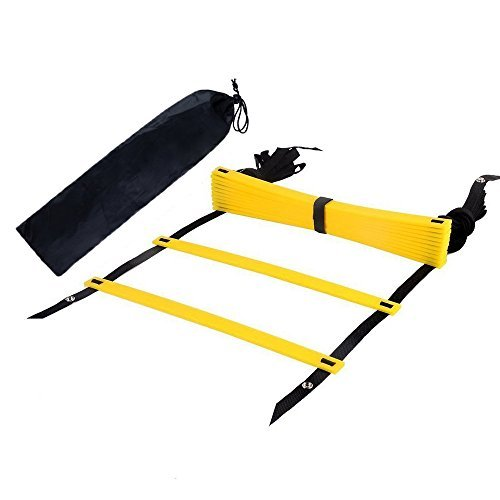 Arespark Agility Ladder, 12 Rung Durable Training Ladders for Soccer, Speed, Football with Carry Bag - Promote