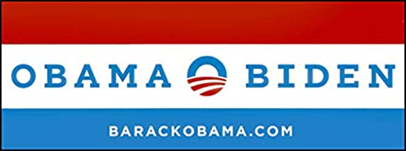 American Vinyl Vintage Obama - O Logo - Biden Bumper Sticker (Political Logo 08 12 Barack Joe)
