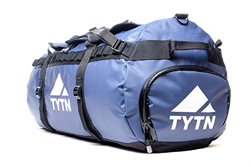 TYTN Travel Duffel Bag 90L - Water Resistant, Tough & Durable (Blue)