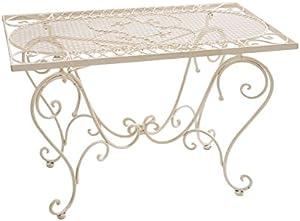 Nostalgia mesa de hierro forjado 12 kg estilo antiguo blanco Tabla Tabla Salón