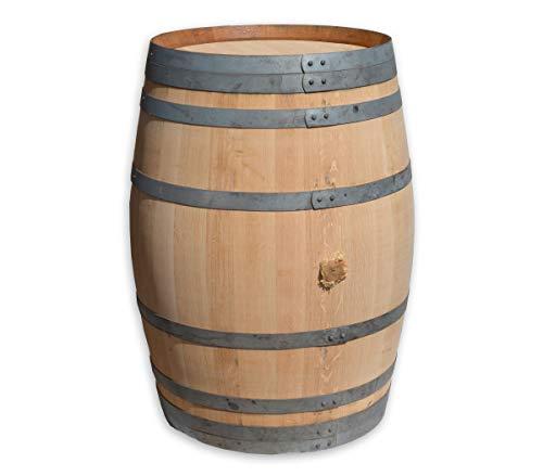 Temesso 225l Weinfass, Barriquefass als Stehtisch - geschliffen (Natur - unbehandelt)