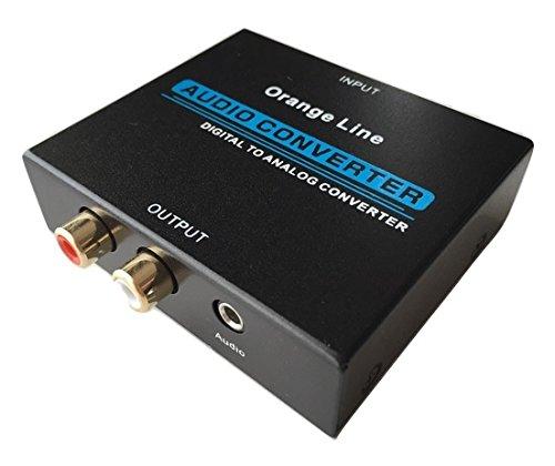 Orange Line 音声 デジタル→アナログ変換器 入力:光&同軸 出力:コンポジット(RCA)&ステレオミニジャック メーカー保証付き