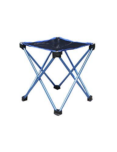 zhxinashu Mini Extérieur Chaise Pliante Portable - Pique Nique BBQ Banc Tabouret Pêche Siège(Bleu)