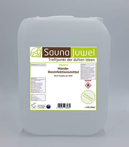 Desinfektionsmittel für die Hände (viruzid, bakterizid, fungizid) nach Vorgabe der WHO - 10 Liter