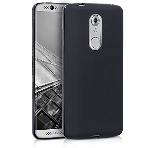 kwmobile TPU Silicone Case Compatible with ZTE Axon 7 Mini - Soft Flexible Protective Phone Cover - Black Matte