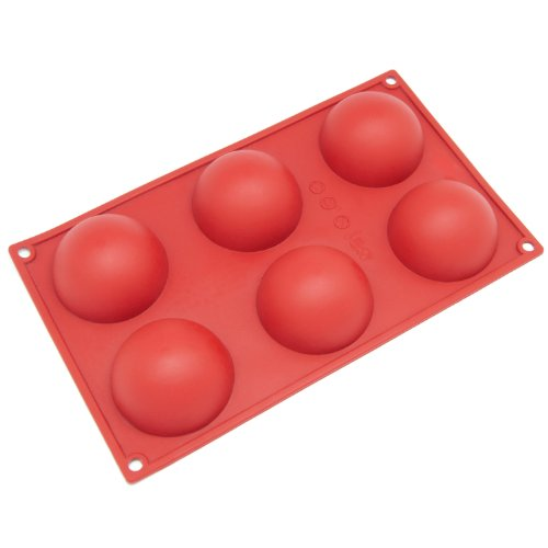 Freshware Cavity Egg Shape Silicone Mold for Soap, Cake, Bread, Cupcake, Cheesecake, Cornbread, Muffin, Brownie, and More