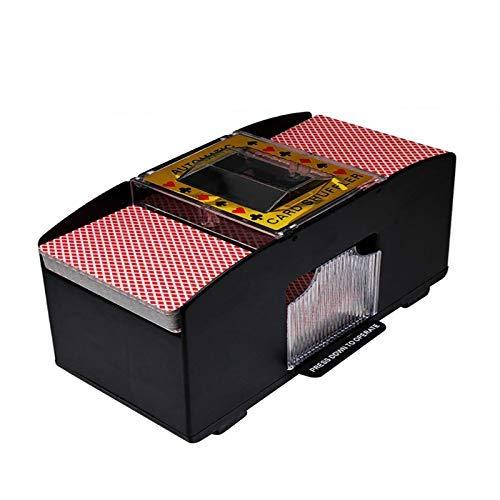 Barajador automático de cartas de póquer, 2 barajas, juegos de cartas de comercio de póquer clásicos ideales para la familia, casino