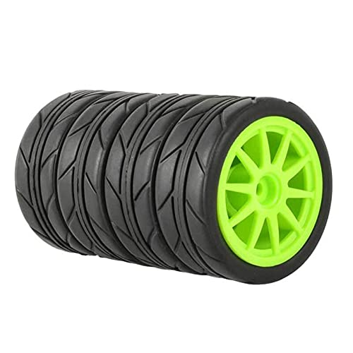 VIKEP Neumáticos de Agarre 4P Inserte la Rueda de Esponja Apta para HSP Racing 1/10 1.10 Coche en Carretera Mini reemplazo de Coches (Color : 910G-6087)