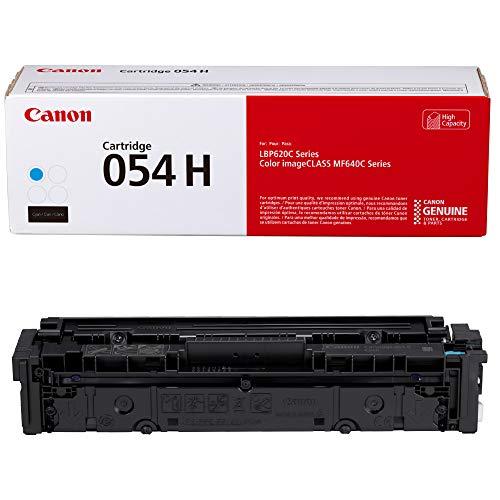 Canon Genuine Toner, Cartridge 054 Cyan, High Capacity (3027C001) 1 Pack, for Canon Color imageCLASS MF641Cdw, MF642Cdw, MF644Cdw, LBP622Cdw Laser Printers, Model:Toner 054