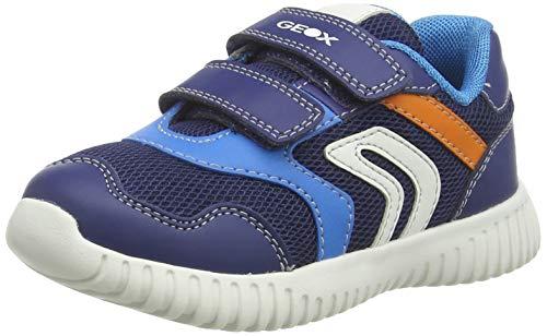 Geox B Waviness Boy A, Sneakers Basses Bébé garçon, Bleu (Navy/Sky C4231), 23 EU