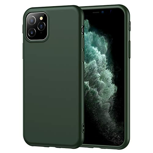 SDUXAPN Compatible iPhone 11 Ultra Slim Thin Matte Soft Flexible TPU Silicone Cover Case Compatible iPhone 11 6.1 inch 2019 (Army Green)